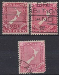 g998) New Zealand. 1923. Used. SG 460 to 462 Restoration of Penny Post. c£39+