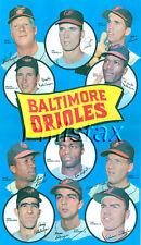 "1969 BALTIMORE ORIOLES TEAM PLAYER 8 1/2"" X 11"" COLOR PRINT POSTER W/ROBINSON"