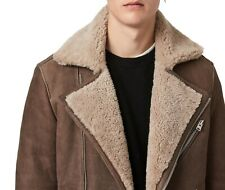 Allsaints Jacket New Original Leather Jacket with Fur Inside Double Face
