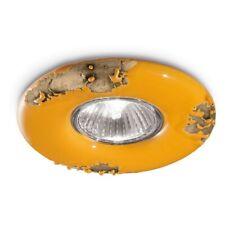 Recessed Spotlight Vintage Wrought Iron Classic Ceramics Orange