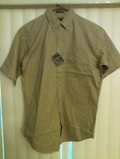 Jonathan Corey brown twill shirt NWT button down, button collar M 15-151/2