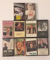 Lot Of 10 Cassettes Kenny Rogers Dolly Parton Country Music Rare Mix Work Great!