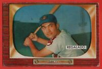 1955 Bowman #142 Rudy Regalado VG-VGEX WRINKLE Rookie RC Cleveland Indians