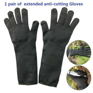 Safety Cut Proof Stab Stainless Steel Metal Resistant Mesh Glove For Butcher NEW