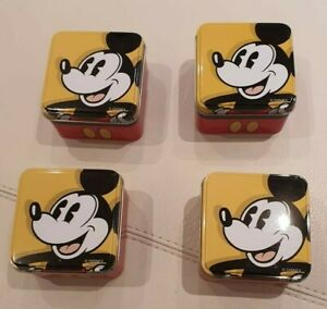 4x Collector's Mickey Mouse Vintage Tins