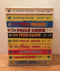 Overstreet Comic Price Guide Paperback 10 Book Lot 6 8 9 10 11 12 13 14 15 16