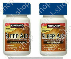 Kirkland Signature Sleep Aid Doxylamine Succinate 192 Tablets 25 Mg EXP 09/21