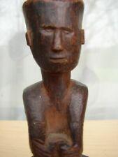 Old Batak Seated Ancestor Figure Sumatra Indonesia