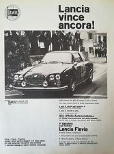 VECCHIA PUBBLICITA' LANCIA FLAVIA ZAGATO AUTO TORINO