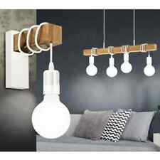 EGLO Pendant Light Townshend 4 Lamps Wood White Hanging Ceiling Lamp Fitting