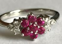 New Product Ruby and Diamond Cluster in 9ct White Gold  (11)