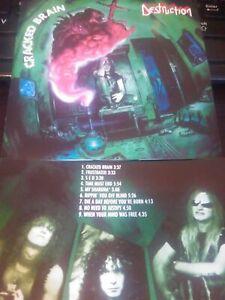 DESTRUCTION CD - Cracked Brain 1990 RARE THRASH METAL