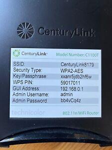 CenturyLink DSL Modem Model C1100T