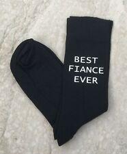 Best Fiance Ever Men's Novelty Vinyl Printed Socks Valentine Gift Birthday Gift