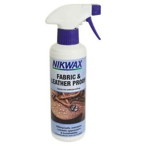 NIKWAX 300ml Spray Fabric & Leather Proof Waterproofer For Boots Shoes Gore Tex