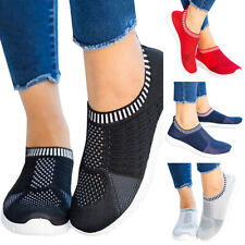 Ladies Mesh Trainers Slip On Sock Breathable Sneakers Sport Joggers Pumps Shoes
