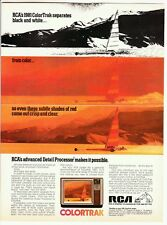 1980 RCA Colortrak TV television (salt flats wind sail surfing jamming) print ad