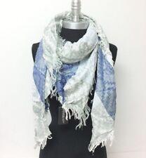effect diamond yarn Square Scarf w/ solid stripe Soft Wrap shawl NEW Reversible