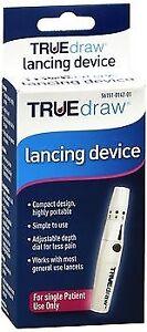 TRUEdraw Lancing Device KV1390 Pen Diabetic Blood Glucose Testing