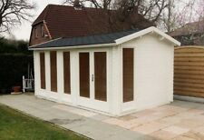 4.8m x 3m/ 40mm Log Cabin/ Ideal for Garden Office/Gym