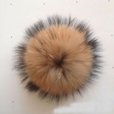 1PCS Real Raccoon Fur Pom Pom Ball for Mobile Strap Bag #94019