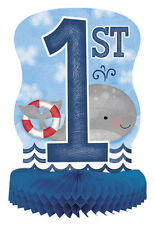 1st BIRTHDAY NAUTICAL HONEYCOMB CENTERPIECE ~ Party Supplies Table Decoration
