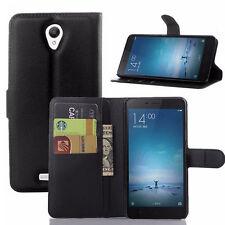 Custodia FLIP cover NERA per Xiaomi Redmi Note 2 case libretto stand+tasche