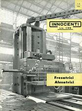 Depliant Brochure Innocenti Fresatrici Alesatrici CWB 1959 ORIGINALE