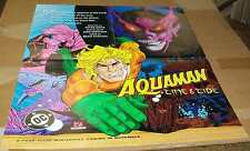 Dc Comics Aquaman Time And Tide 1993 Promo Poster 22 x 17 #rk-34