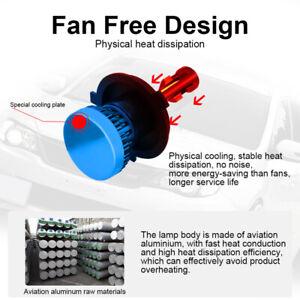 2PCS Car SUV 6000K H4 HB2 LED Headlight Kit 1200W 6000LM Hi/Lo Beam Bulb Kit