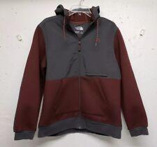 The North Face 3D Thermal Fleece Full Zip Jacket with Hood Maroon men's Medium