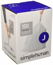 Simplehuman Code J Custom Fit Liners Tall Kitchen Drawstring Trash Bags 30 45
