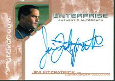 STAR TREK ENTERPRISE SEASON 1 AUTOGRAPH CARD BBA12 JIM FITZPATRICK AS WILLIAMS