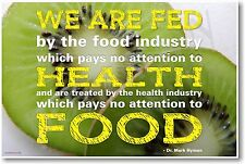 We Are Fed - NEW Food and Health Industry Poster