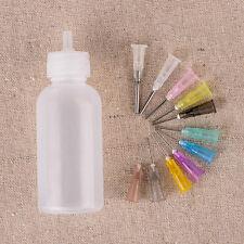 30ml Syringe Needle Tip Dispenser Bottle Rosin Solder Liquid Flux + 11 Needles