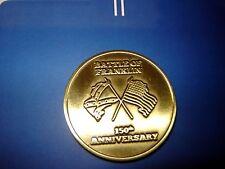 Franklin Tennesseee Large Gold Brass 150th Battle anniversary Civil War Coin