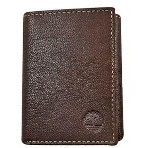 Timberland Men's Premium Genuine Leather Trifolder Wallet Brown