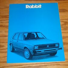 Original 1980 Volkswagen VW Rabbit Sales Brochure 80