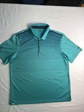 Adidas Climacool Polo Golf Shirt Lake Jovita Extra Large Xl Green And Blue