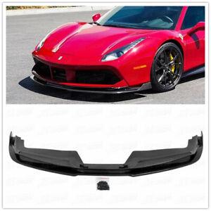 Real Carbon Fiber Front Lip Bumper Diffuser For Ferrari 488 GTB GTS 2015-2018