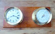 More details for bulkhead clock and barometer - shortland/bowen