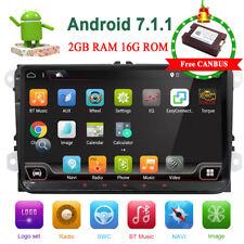 "9"" Autoradio Android 7.1.1 GPS NAVI SWC AUX WIFI FM Für VW Golf 5 Passat Touran"