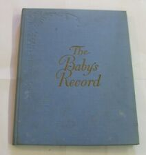 1912 Unused ''The Baby's Record'' Hardcover Book