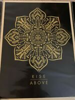 Shepard Fairey OBEY Raise the Caliber Rise Above SET poster signed&numbered lim.