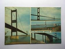The New Severn Bridge - Old Postcard - Unposted - 1966