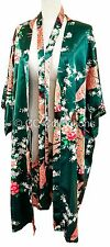 Kimono Peacock PREMIUM FREE NEXT DAY DELIVERY night dress gown Emerald Green