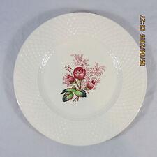Spode China Lady Anne salad plates set 2 pink rose leaves basket weave trim edge