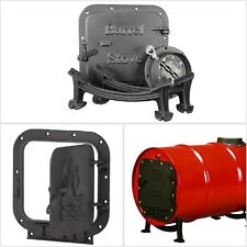 Heavy Duty Barrel Stove Kit Converts 36 or 55 Gallon Steel Drum into Wood Heater