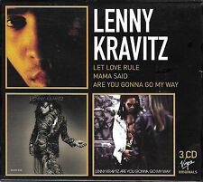 LENNY KRAVITZ French 2002 LTD 3 CD BOX Let Love Rule/Mama Said/Are You Gonna Go