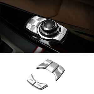 For BMW 3 5 6 7 Series X1 X3 F10 5x Chrome iDrive Multimedia Button Cover Trim